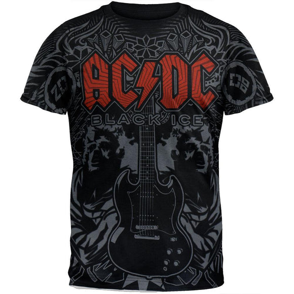 AC/DC - Black Ice Soft All Subway Print T-Shirt