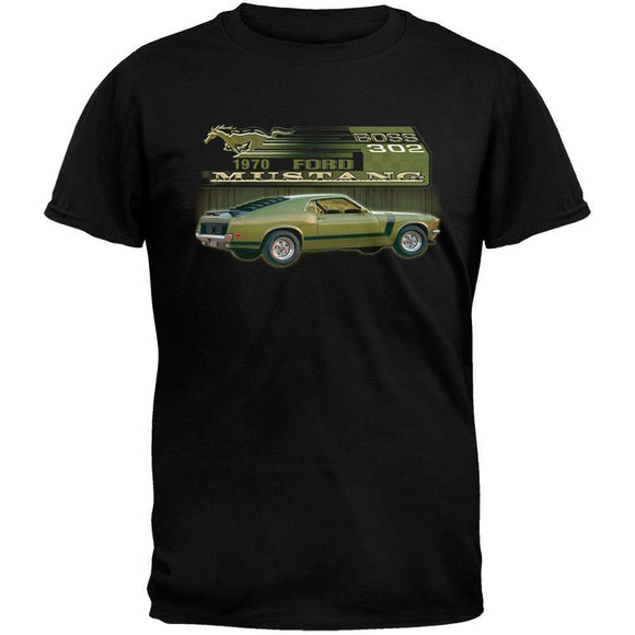 Ford - Boss 302 Black Adult T-Shirt