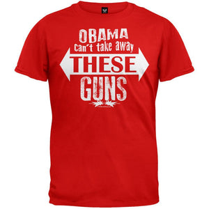 Obama Can't Take Away These Guns Red T-Shirt