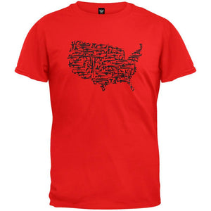 Guns In The US Red T-Shirt