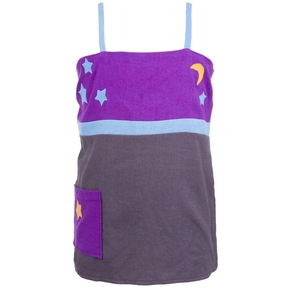 Little Hippie - Moon & Stars Chocolate Toddler Top