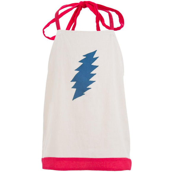 Grateful Dead - Lightning Bolt Natural Toddler Halter Top