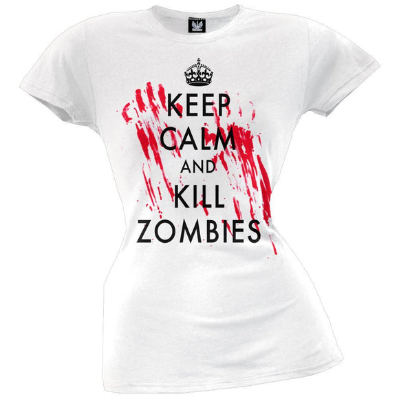 Keep Calm and Kill Zombies Juniors T-Shirt