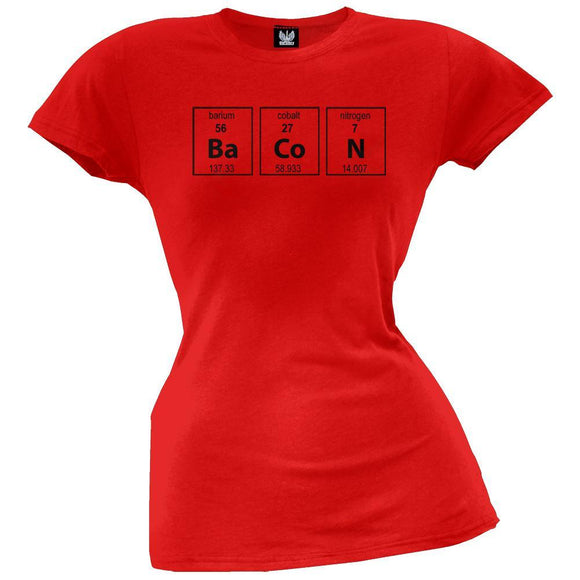 Bacon Periodic Table Juniors T-Shirt