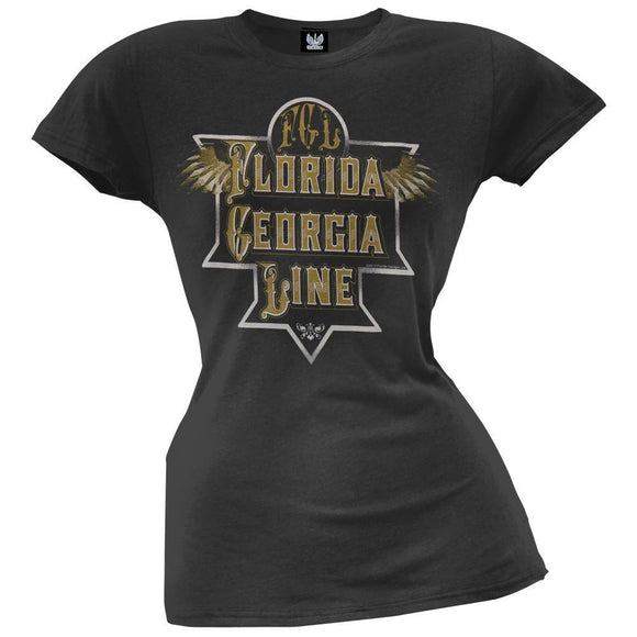 Florida Georgia Line - Etched Plate Wings Juniors T-Shirt