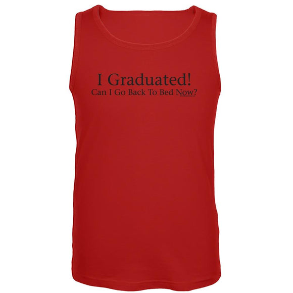 I Graduated! Red Tank Top