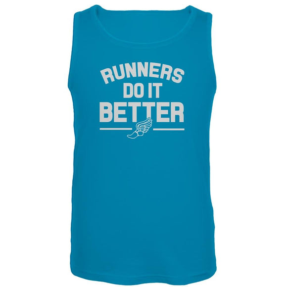 Runners Do It Better Blue Tank Top