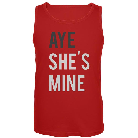 AYE She's Mine Red Tank Top