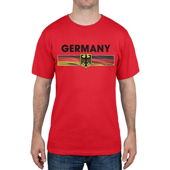 World Cup Germany Eagle Crest Red Soccer T-Shirt