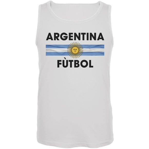 World Cup Argentina Crest White Soccer Tank Top