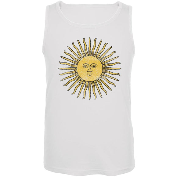World Cup Argentina Sun of May White Soccer Tank Top
