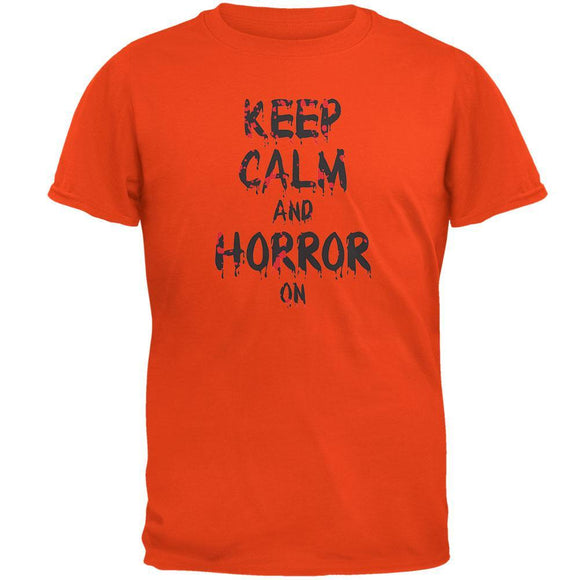 Keep Calm and Horror On Orange T-Shirt