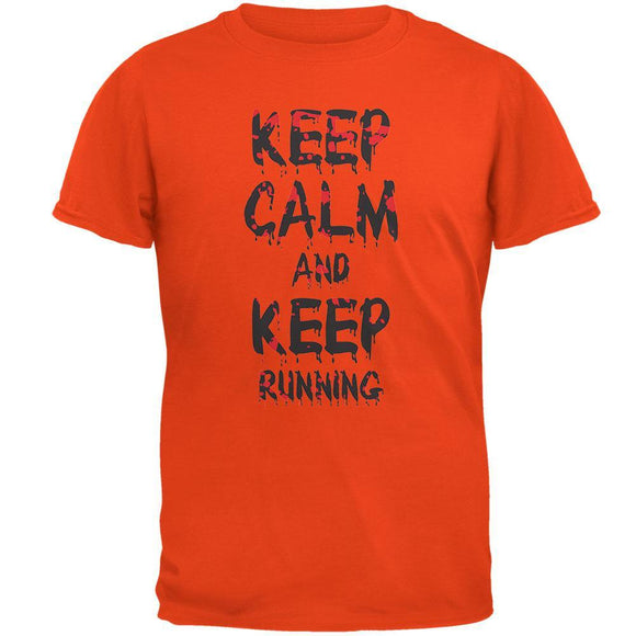 Keep Calm and Keep Running Orange T-Shirt