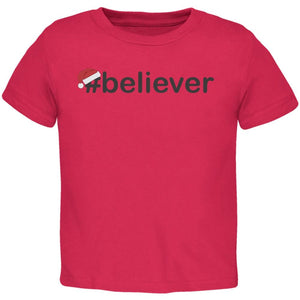 #Believer Santa Toddler Red T-Shirt