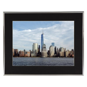 Freedom Tower Coast Line Photo James Crouch 16x20 Silver w Black Wall Art