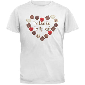 The Real Way To My Heart White Adult T-Shirt