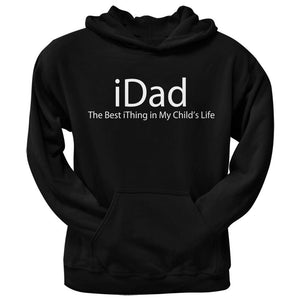 Father's Day - Funny iDad Geek Black Adult Pullover Hoodie