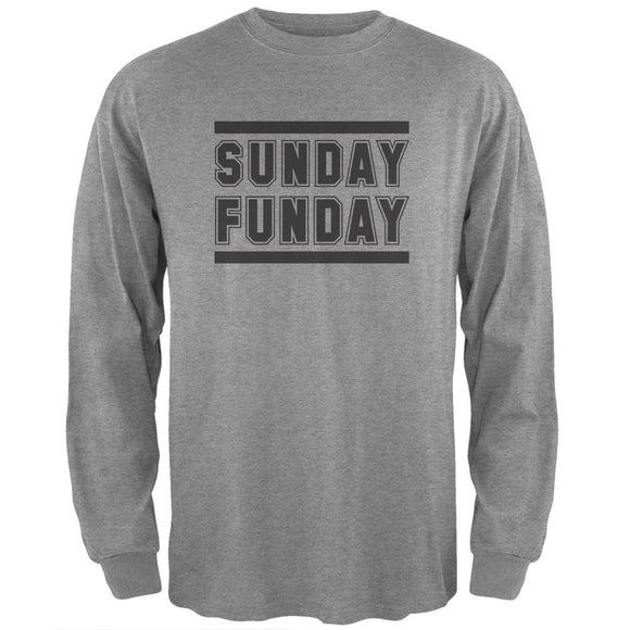 Sunday Funday Heather Grey Adult Long Sleeve T-Shirt