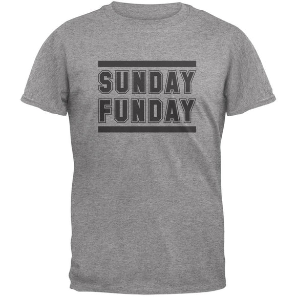 Sunday Funday Heather Grey Adult T-Shirt