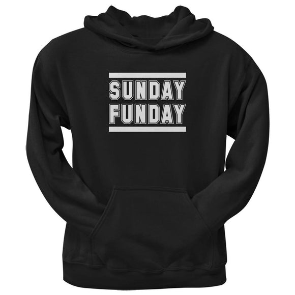 Sunday Funday Black Adult Pullover Hoodie