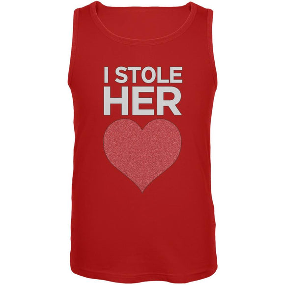 I Stole Her Heart Red Mens Tank Top