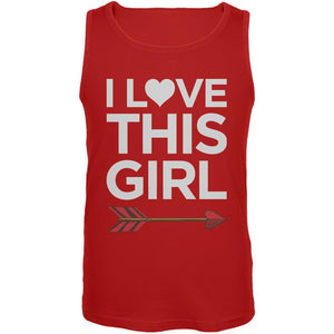 I Love This Girl Red Mens Tank Top