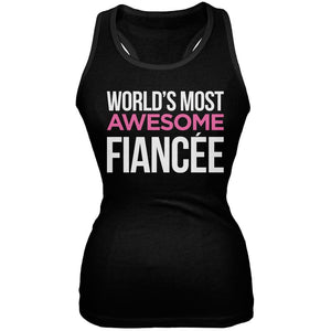 World's Most Awesome Fianc??e Black Soft Juniors Tank Top