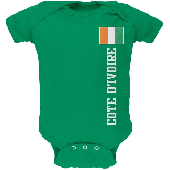 World Cup Cote D'Ivoire Green Soft Baby One Piece