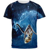 Surfing Spider Monkey IN SPACE All Over Adult T-Shirt