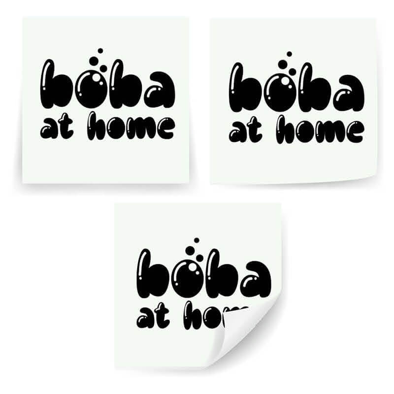"Boba at Home Logo 2x2"" Stickers"