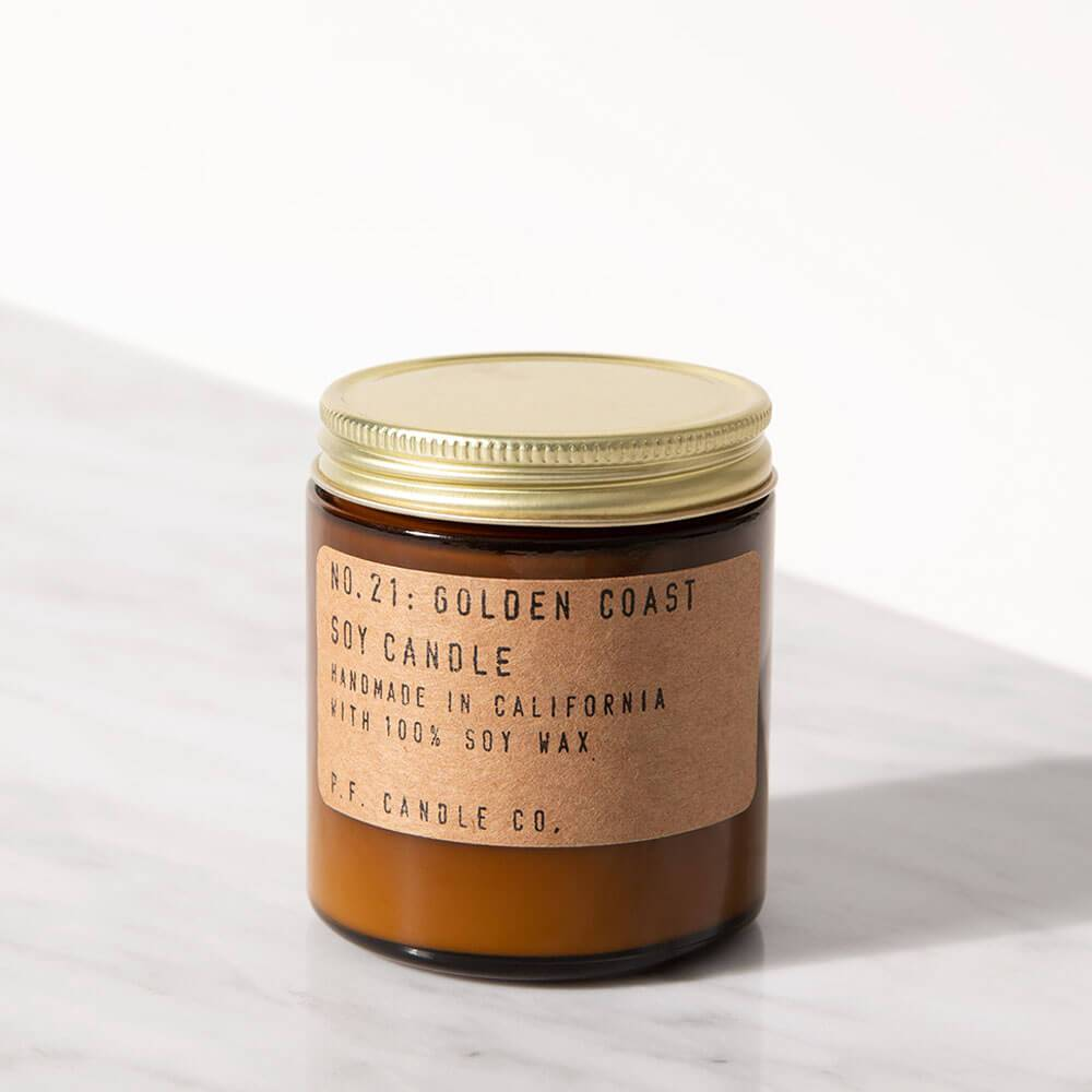 P.F. Candle Co. Golden Coast Mini Jar Candle Image 1