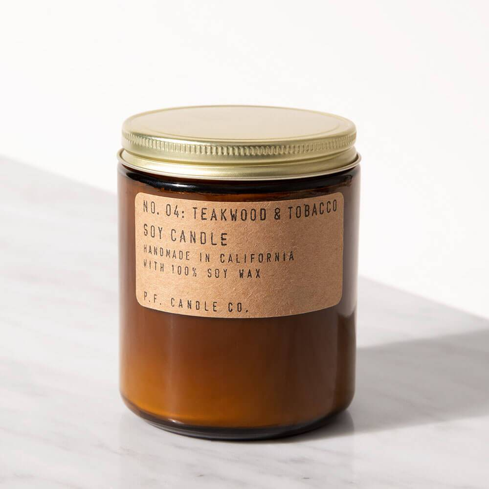 P.F. Candle Co. Teakwood And Tobacco Standard Jar Candle Image 1