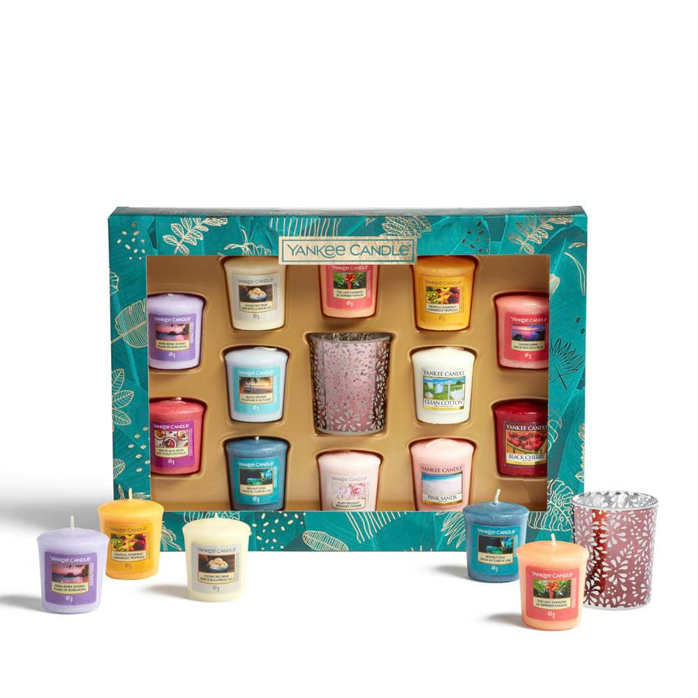 Yankee Candle The Last Paradise 12 Votive Candle Gift Set Image 1