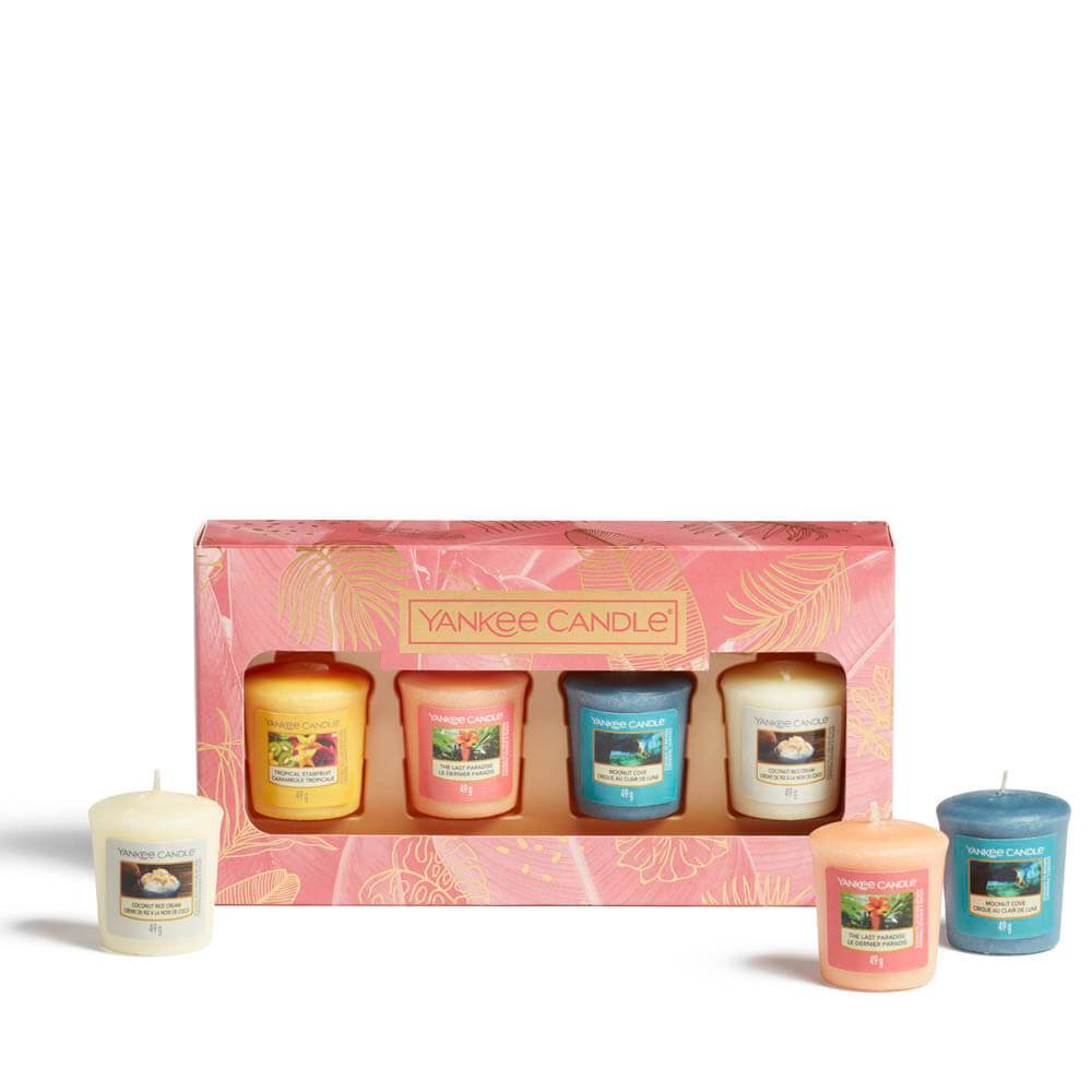 Yankee Candle The Last Paradise 4 Votive Candle Gift Set Image 1