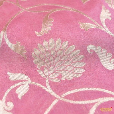 Light Gajri Pink Pure Katan Silk Uppada Handloom Banarasi Saree