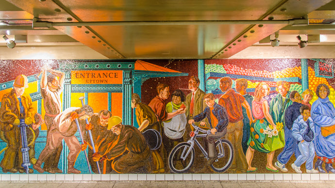 New York City Subway Mosaics - Big & Beautiful