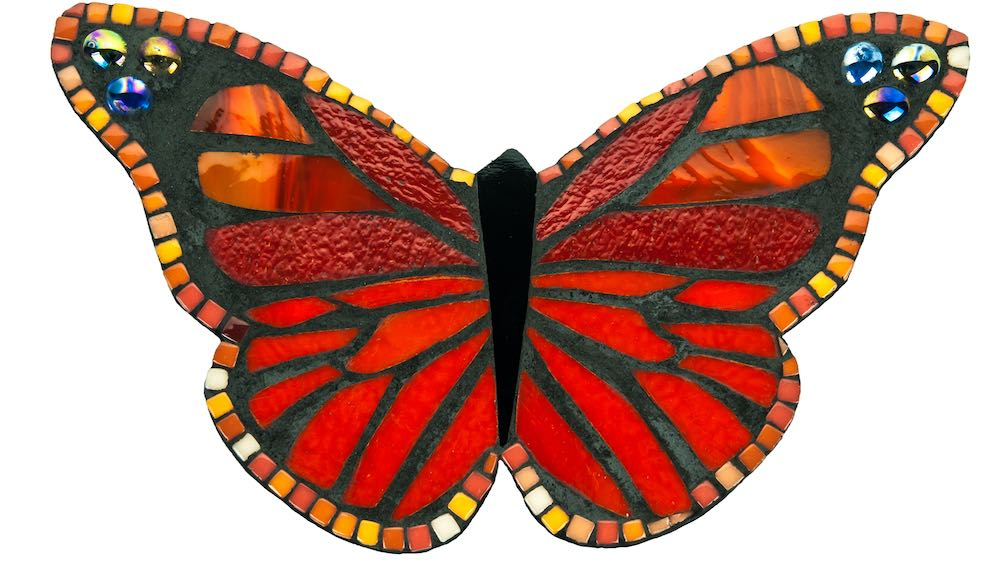 mosaic of a red butterfly