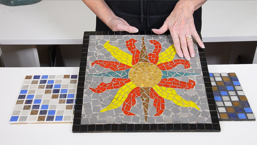 Mosaic examples of grout colors
