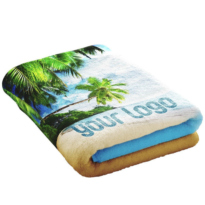 Towel x 2 Sizes  (Large 90cm x 170cm & Small 100cm x 50cm) - Own Photo Upload Option