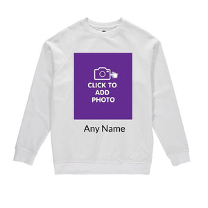 Mens Sweatshirt - Own Photo Upload Design Option