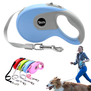 Dog Leash Retractable Automatic No Tangle Pet Walking Leads Extending Dogs Leahes 5M  For Small Medium Large Dogs Pitbull