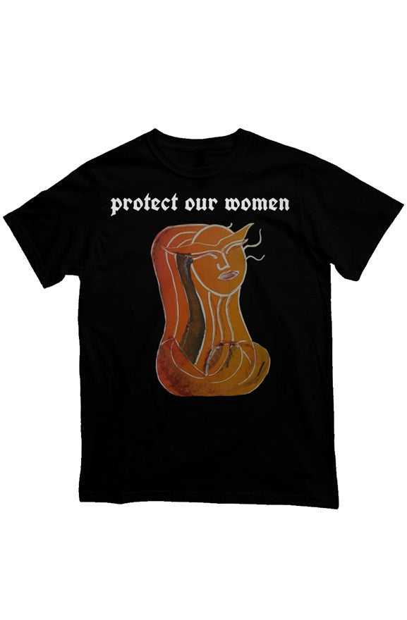 'Protect our women' Heavyweight T Shirt
