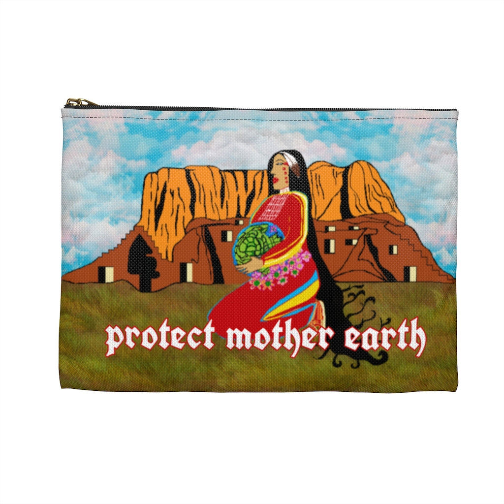 'Protect Mother Earth' Accessory Pouch