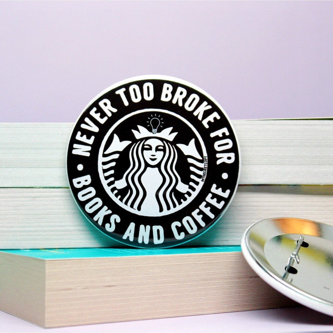 Books and Coffee Button
