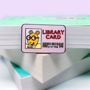 Library Card Enamel Pin