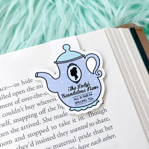 Lilac Scandalous News Magnetic Bookmark