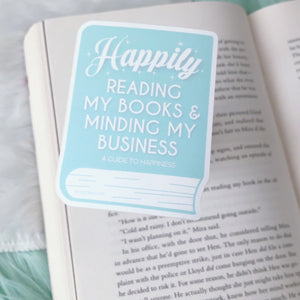 Happily Reading My Books Sticker