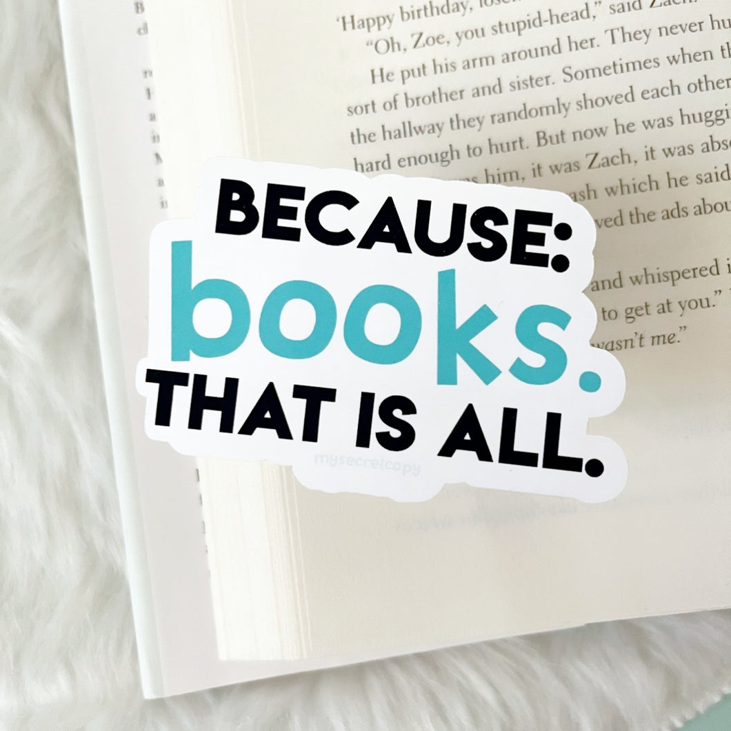 Because Books Sticker