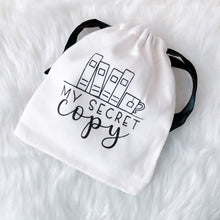 Load image into Gallery viewer, My Secret Copy Canvas Drawstring Gift Bag