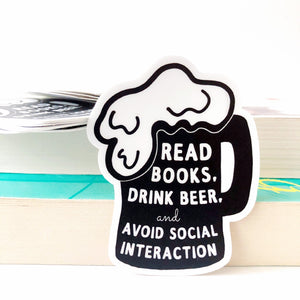 Read Books and Drink Beer Sticker